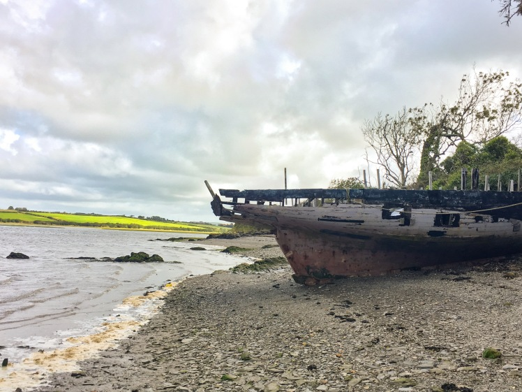 Boat Abandoned Shipwreck Came Trail Cycling Adventure Cornwall Padstow Holiday Exploring Outdoors Cycle path